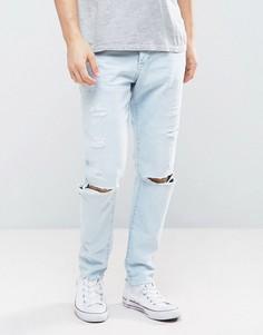 Свободные рваные джинсы River Island - Синий