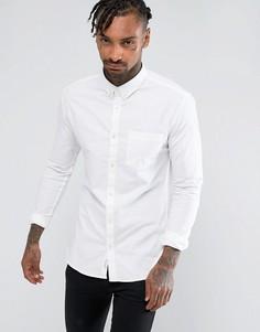 Белая облегающая оксфордская рубашка River Island - Белый