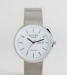 Часы с индикацией даты и серебристым сетчатым ремешком Reclaimed Vintage Inspired эксклюзивно для ASOS - Серебряный