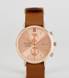 Часы с хронографом и кожаным коричневым ремешком Reclaimed Vintage Inspired эксклюзивно для ASOS - Коричневый