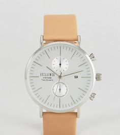 Часы с хронографом и светло-коричневым кожаным ремешком 36 мм Reclaimed Vintage Inspired эксклюзивно для ASOS - Рыжий