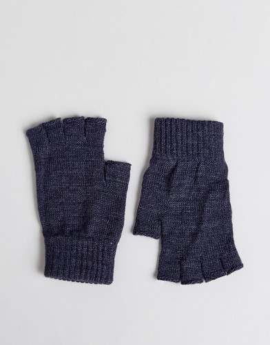 Джинсовые перчатки без пальцев ASOS - Темно-синий