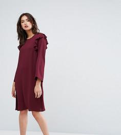 Платье с оборками и рукавами клеш Y.A.S Tall - Красный