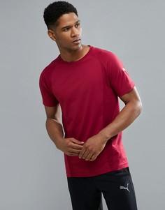 Бордовая футболка Puma Running Evostripe 59262609 - Красный