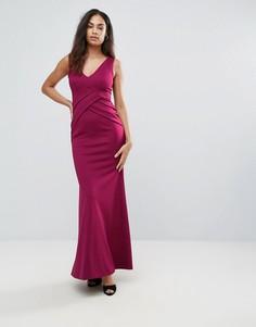 Платье макси с глубоким вырезом Jessica Wright - Красный