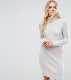 Платье с добавлением мохера Noisy May Tall - Серый