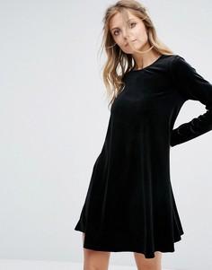 Бархатное свободное платье Glamorous - Черный