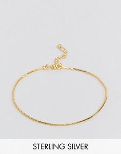 Браслет из позолоченного серебра ASOS - Золотой