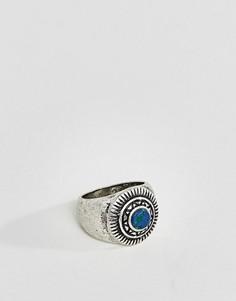 Серебристое кольцо с бирюзой ASOS - Серебряный