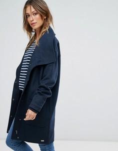 Пальто-кокон с добавлением шерсти Bellfield Tasola - Синий