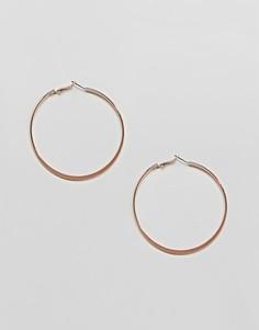 Серьги-кольца среднего размера River Island - Золотой