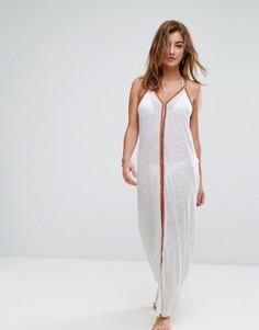 Пляжное платье макси с вышивкой River Island - Белый