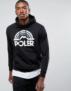Худи с логотипом и принтом радуги Poler - Черный