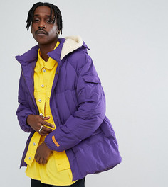Дутая фиолетовая куртка The New County - Фиолетовый