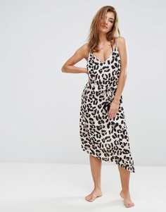 Пляжное платье с леопардовым принтом River Island - Мульти
