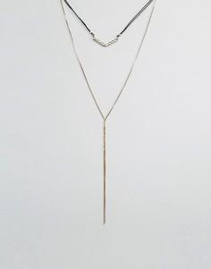 Длинное ожерелье в два ряда Nylon - Золотой