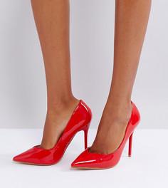 Красные туфли-лодочки на каблуке Lost Ink - Красный