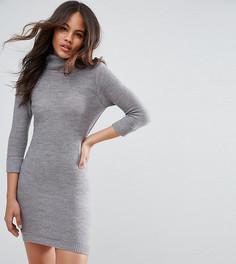 Платье-джемпер с воротником-поло Brave Soul Tall - Серый