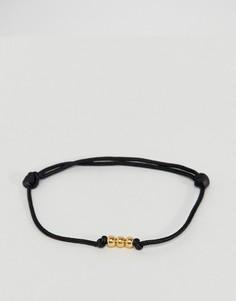 Черно-золотистый браслет Mister - Черный