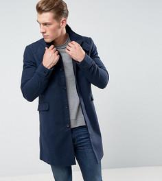 Фактурное пальто с воротником-стойкой Only & Sons - Темно-синий