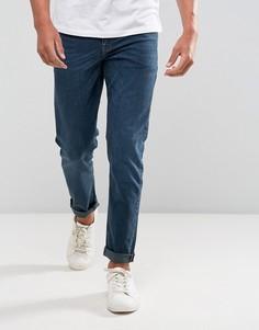 Сине-черные стретчевые джинсы слим ASOS - Синий