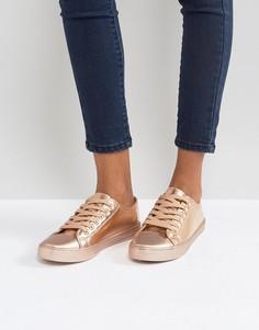 Кроссовки цвета розового золота Qupid - Медный