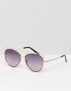 Солнцезащитные очки с вырезами на оправе ALDO Thalima - Черный