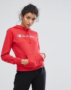 Худи с логотипом Champion - Красный