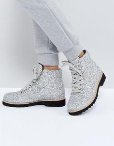 Походные ботинки ASOS ADRIANA - Серебряный