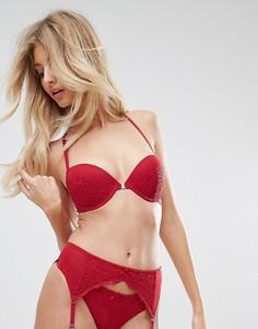 Красный бюстгальтер с эффектом пуш-ап Dorina Natalie - Красный