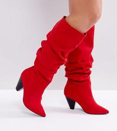 Высокие сапоги для широкой стопы ASOS CADET - Красный