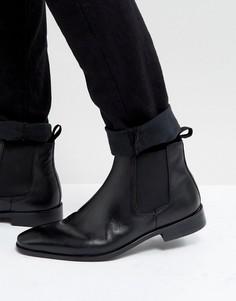 Черные кожаные ботинки челси Dune - Черный