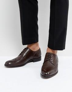 Коричневые кожаные туфли Dune - Коричневый