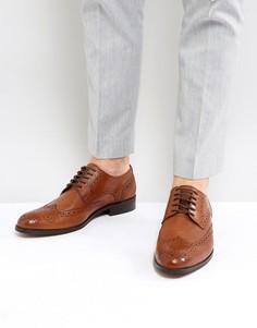 Светло-коричневые кожаные туфли Dune - Рыжий