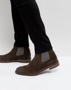 Коричневые замшевые ботинки-челси Steve Madden Teller - Коричневый