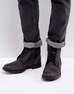 Серые ботинки броги Steve Madden Gannon - Серый