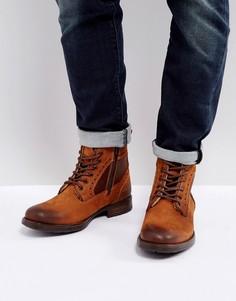 Светло-коричневые ботинки броги Steve Madden Gannon - Рыжий