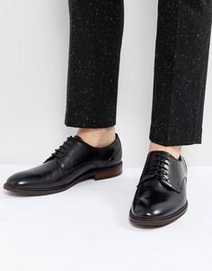 Черные кожаные туфли Steve Madden - Черный