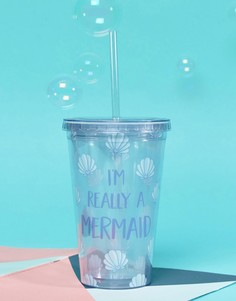 Стакан с надписью Im Really Mermaid Sass & Belle - Мульти
