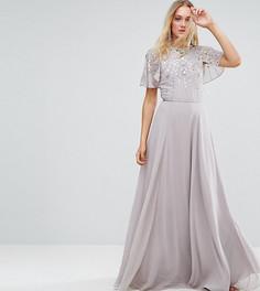 Платье макси с расклешенными рукавами ASOS TALL - Серый