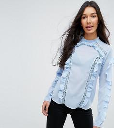 Блузка с оборками ASOS TALL - Синий