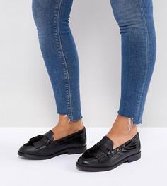 Туфли на плоской подошве для широкой стопы Dune Goodness - Черный