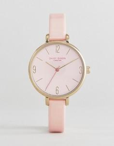 Часы с розовым кожаным ремешком Daisy Dixon - Розовый