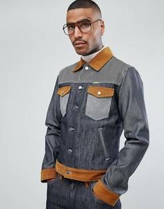 Джинсовая куртка в стиле вестерн Wrangler - Темно-синий