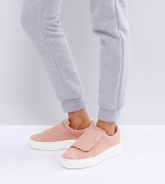 Розовые замшевые кроссовки на платформе Puma - Розовый