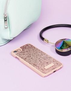 Розовый матовый чехол с блестками для iPhone 6/6S/7/8 от Skinnydip - Мульти