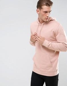 Розовый длинный худи ASOS - Розовый