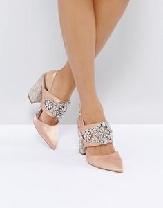 Туфли на каблуке с отделкой камнями ASOS PERFECT COMBO - Бежевый