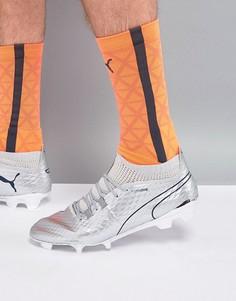 Футбольные бутсы цвета металлик для твердой поверхности Puma 10398601 - Серебряный