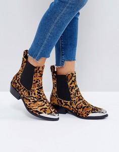 Кожаные ботинки челси в стиле вестерн ASOS AMBERLEY - Мульти